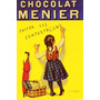 Cartaz Poster Vintage Chocolate Menier Menina Escrevendo