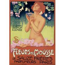 Mulher Flores Borboletas Perfume Lagoa Poster Repro