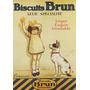 Biscoito Garoto Cachorro França Grande Antigo Poster Repro