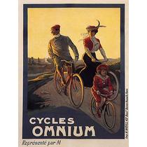 Bicicleta Omnium Mulher Criança Homem Familia Poster Repro