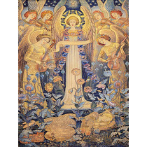 Anjos Flores Mulher Morte Violinos Poster Repro