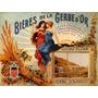 Garotas Bebendo Cerveja Gerbe Vintage Frances Poster Repro