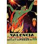 Fallas De Valencia 1935 Mulher Fogueira Poster Repro
