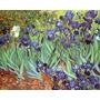 Iris Flores Jardim Arvores Reprodução De Van Gogh Na Tela
