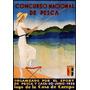 Concurso Nacional De Pesca Vara Mulher Lagoa Poster Repro
