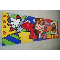 Releitura De Romero De Britto The Hug Too Tam:70x2.00 Painel