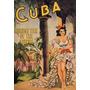 Cuba Mulher Dança Vestido Musica Tropical Poster Repro