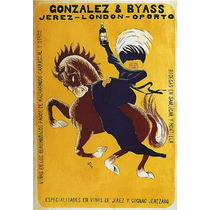 Cavalo Mulher Garrafa Bebida Jerez Espanha Poster Repro