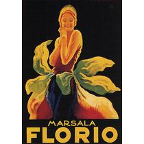 Bebida Marsala Florio Mulher Roupa Flor Poster Repro
