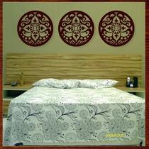 Trio Quadros Decorativo Esculturas De Parede Mdf Mandalas