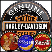 Placas Decorativas Retro Vintage Cerveja Coca Harley Frete G