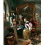 Aula De Desenho Arte 1665 Pintor Jan Steen Repro Na Tela