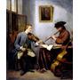 Violinista Flautista Música Pintor Quinkhard Na Tela Repro