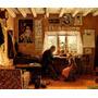 Avô Lendo Livro Para Neta Gatos 1891 Pintor Snape Tela Repro