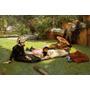 Mãe Filhos Tomando Sol Jardim Pintor Tissot Repro Na Tela