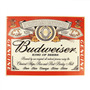 Placa Decorativa Budweiser King Of Beers Média