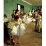 Classe Aula Dança Balé Bailarinas Pintor Degas Repro Na Tela
