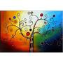 Quadro Decorativo Abstrato Sala Quarto Pintado À Mão 60x80cm