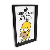 Quadro Porta Tampinhas Homer Simpson 1- 22x36cm