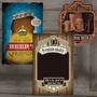 Quadro Decorativo Cerveja Em Madeira Retro Preço Por Unidade