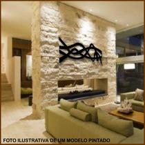 Quadro De Parede - Escultura -1 Metro - Mdf Pintado