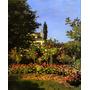 Lindo Jardim Botões Rosas Paris 1866 Pintor Monet Tela Repro
