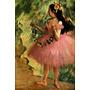 Balé Bailarina Dançando Vestido Rosa Pintor Degas Tela Repro