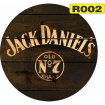 Placas Vintage Retro Redondas Jack Daniels Budweiser