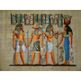 Papiro Egipcio 32x43cm Egito Hórus Deus Ra Anubis Seth Pm7