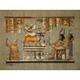 Papiro Egipcio 24x34cm Egito Amon Hathor Isis Khnum Maat Pp3