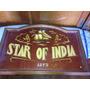 Quadro Antigo Estrela Da India Feito A Mao Na Madeira