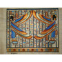 Papiro Egipcio 32 X 43cm Egito Dança Do Ventre Isis Pm5