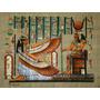 Papiro Egipcio 32 X 43cm Egito Amon Osiris Isis Oferenda Pm3