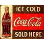 Coca Cola, Kit 6 Placas Decorativas Vintage.