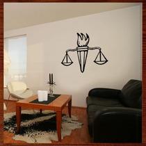 Quadro Decorativo Escultura De Parede Mdf Balança Justiça
