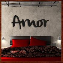 Quadro Decorativo Escultura Em Mdf Palavra - Amor