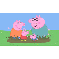 Painel De Festa Infantil,peppa Pig,banner Infantil,2,00 X100