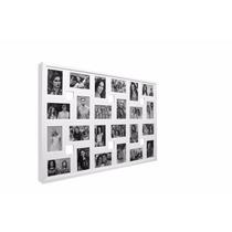 Painel 24 Fotos Branco Excelente Acabamento 93x60x3 Vidro