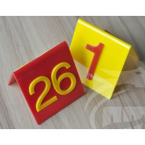 Placas Número Mesa Bar Restaurante Casamento Debutante 25pç