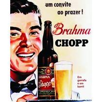 Placa Decorativa Retrô Cerveja P/ Churrasqueira Frete R$7,00
