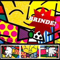 Placa Decorativa Romero Britto The Hug O Abraço Mini Frete G