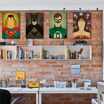 Placas Decorativas Em Mdf - Super Heróis - Marvel - Dc