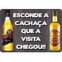 Placa Quadro De Madeira Decorativa Cachaça - Frete Barato