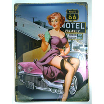 Placa Importada De Metal - Big - 40x30 - Girl Pin-up- Vb-016