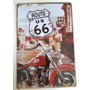 Placa Decorativa Vintage Moto Harley Davidson Rota 66 - Pl13