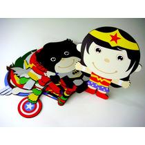 Kit 10 Quadros Super Heróis Baby Avengers Batman Superman
