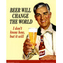 Placas Decorativas - Antigas Vintage Retro Cerveja Lindas