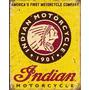 Moto Indian Placa Decorativa Retro Vintage - Frete Gratis