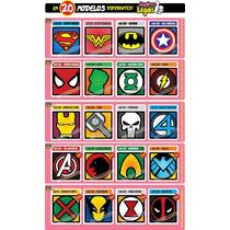 10 Miniaturas Super Heróis