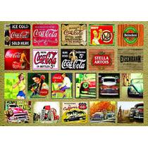 Placas Decoração 21x15 Retro-vintage / Cerveja/coca Cola/bar